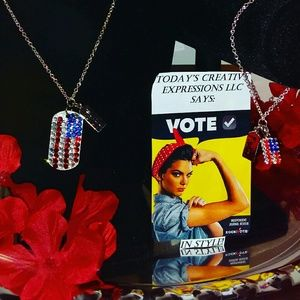 """The """"Vote In Style!"""" Jewelry Set!"""